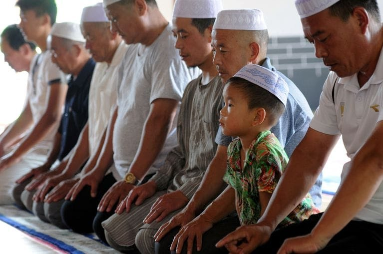 Muslims pray at a mosque in eastern China at the beginning of the holy month of RamadanAFPGetty Images STR